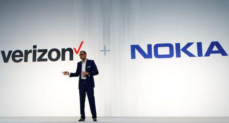 Rajeev Suri, Nokia's President and Chief Executive Officer, speaks during the Mobile World Congress in Barcelona, Spain February 26, 2017. REUTERS/Albert Gea