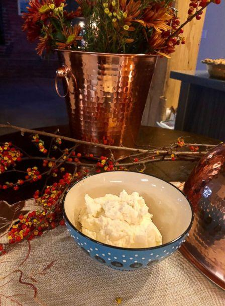 PHOTO: Salted caramel whipped cream that is the perfect addition to Dutch apple pie. (Kelly McCarthy/ABC News)