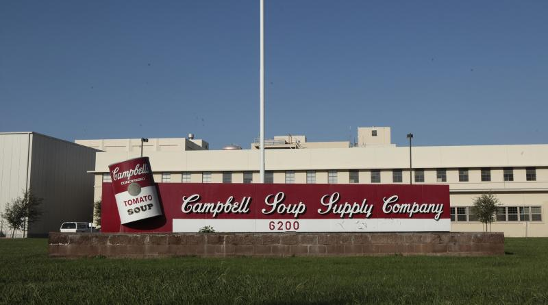 This Thursday, Sept. 27, 2012, photo, shows a Campbell Soup Co. factory in Sacromento, Calif. The world's largest soup maker said it will close Sacramento plant that has about 700 full-time workers. The plant, which makes soups, sauces and beverages is the company's oldest in the country.(AP Photo/Rich Pedroncelli)