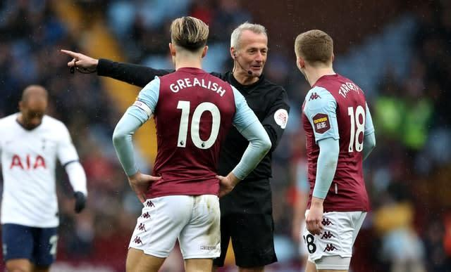 Villa boss Dean Smith said he did not blame referee Martin Atkinson for the controversial VAR call (Nick Potts/PA)