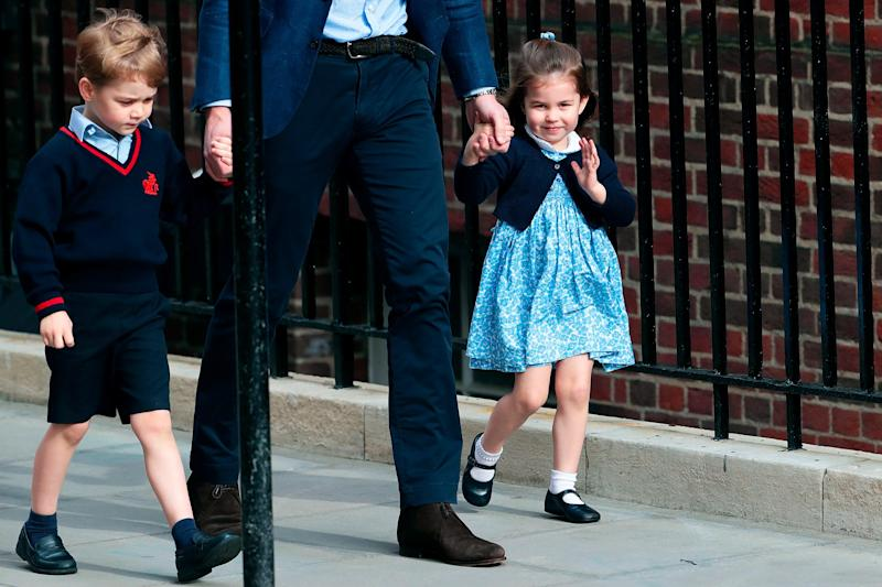 Royal Baby: A Waving Princess Charlotte Steals the Show as She and Prince George Visit Their New Brother