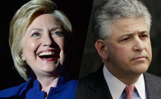 Hillary Clinton and Daniel Petrocelli (Photos: Kevin Winter/Getty Images, Dave Einsel/Getty Images)