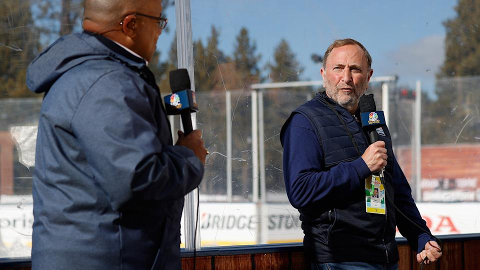 Gary Bettman has been a busy man this week. (Photo by Christian Petersen/Getty Images)