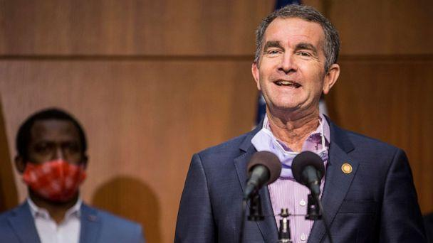PHOTO: Virginia Gov. Ralph Northam speaks during a news conference, June 4, 2020, in Richmond, Virginia. (Zach Gibson/Getty Images, FILE)