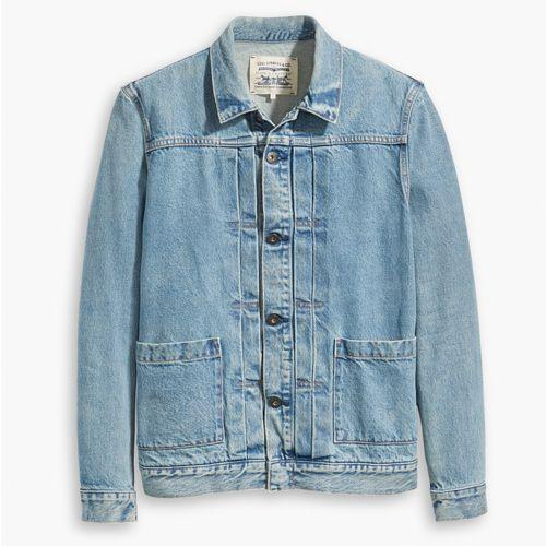 "<p><a rel=""nofollow"" href=""https://www.levi.com/GB/en_GB/clothing/men/truckers-sherpas/levis-made-crafted-type-ii-worn-trucker-jacket/p/289430010"">SHOP</a></p><p>The denim jacket as a layering piece is a relatively new phenomenon. New, but welcome, especially when it's from Levi's Made & Crafted line. Complete with white T-shirt and navy overcoat.</p><p><em>Made & Crafted Jacket, £130, <a rel=""nofollow"" href=""https://www.levi.com/GB/en_GB/clothing/men/truckers-sherpas/levis-made-crafted-type-ii-worn-trucker-jacket/p/289430010"">levi.com</a></em></p>"