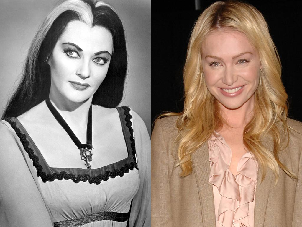 """<b>Lily Munster</b><br><br><b>Original Cast: </b>Yvonne De Carlo<br><br><b>New Cast:</b> Portia de Rossi<br><br>Stepping into the role of Herman's vampire wife Lily (originally played by the stunning Yvonne De Carlo) shouldn't be too tough for de Rossi. The blond actress has specialized in playing cold-blooded types since her stint as icy lawyer Nelle """"Subzero"""" Porter on """"Ally McBeal."""" And she's no stranger to weird TV families, either, having been a part of the wacky Bluth clan on the great """"Arrested Development."""" But how crazy is it that both actresses have last names that start with """"De""""? Now that's spooky."""