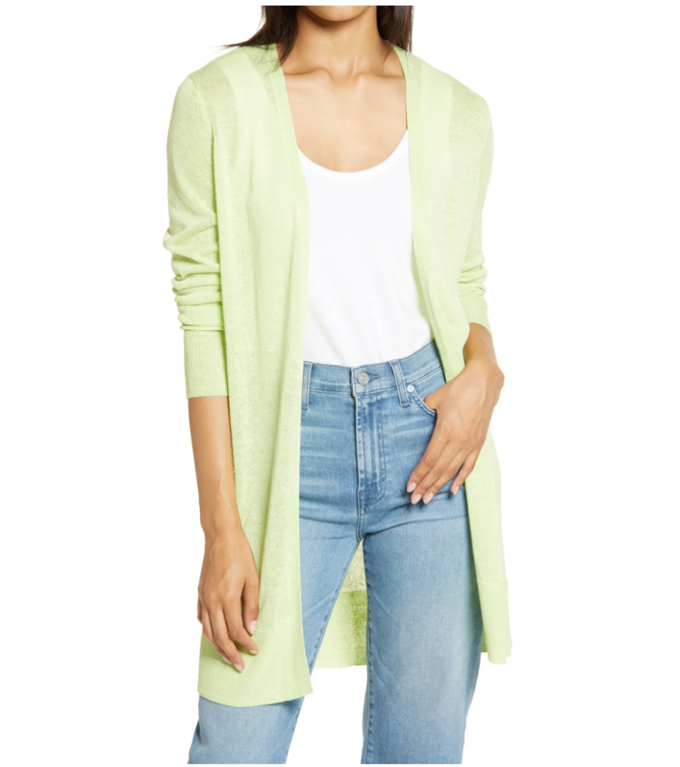 Halogen Side Slit Cardigan. Image via Nordstrom.