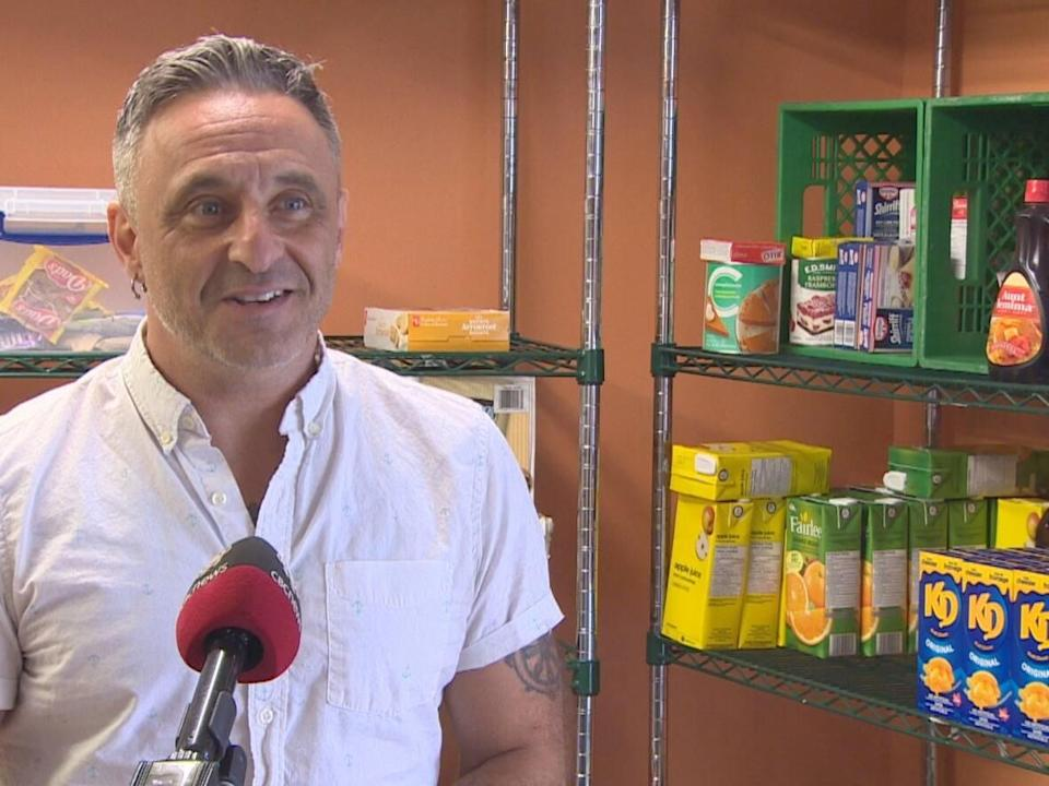 Jody Williams is the manager of Bridges to Hope Food Aid Centre in downtown St. John's. The food bank has been operating for 30 years but is struggling with rising food prices. (Danny Arsenault/CBC - image credit)