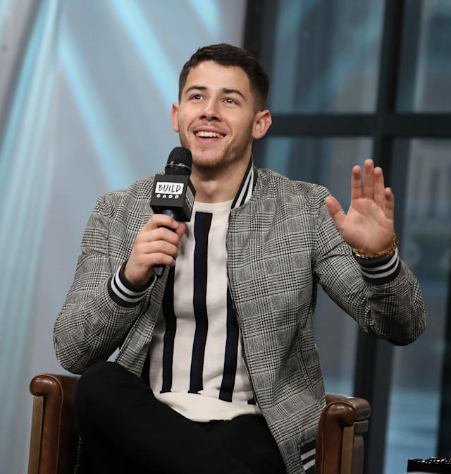 Nick Jonas stopped off to talk about recent projects and the upcoming wedding plans of his brother Joe Jonas. (Photo: Getty Images)