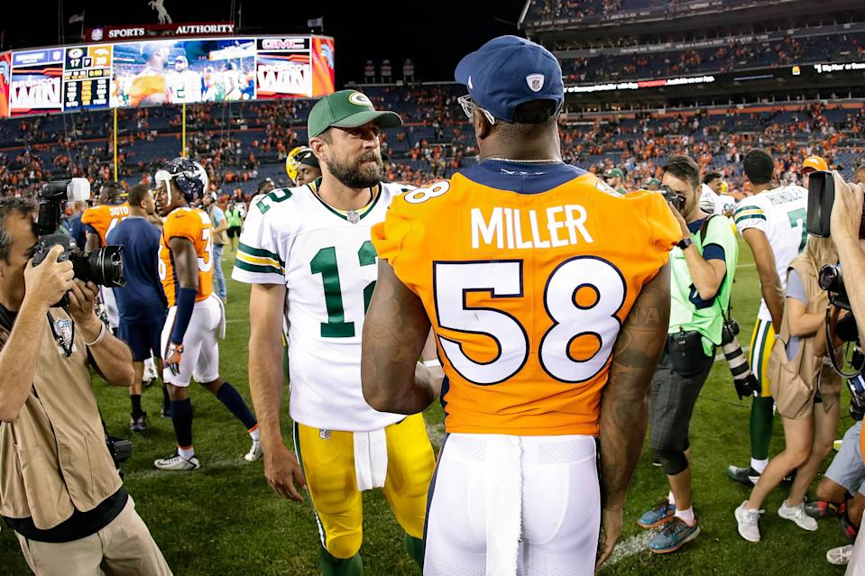 Could Packers QB Aaron Rodgers wind up being a teammate of Broncos OLB Von Miller?