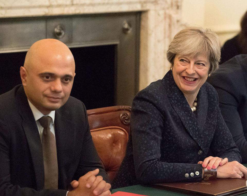 Britain's prime minister Theresa May and home secretary Sajid Javid are working to overhaul the UK's immigration system. Photo: Steve Parsons/Getty Images
