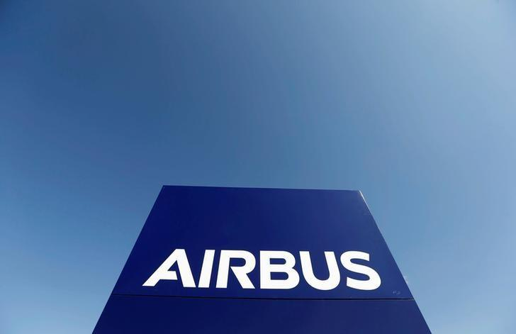 The logo of Airbus Group is seen on the company's headquarters building in Toulouse, Southwestern France