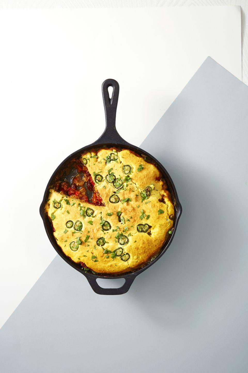 "<p>Why bother making <a href=""https://www.goodhousekeeping.com/food-recipes/a44234/carlas-cornbread-recipe/"" rel=""nofollow noopener"" target=""_blank"" data-ylk=""slk:cornbread"" class=""link rapid-noclick-resp"">cornbread</a> <em>and</em> chili when you can make it all at once?</p><p><a href=""https://www.goodhousekeeping.com/food-recipes/a42799/chili-pie-cornbread-crust-recipe/"" rel=""nofollow noopener"" target=""_blank"" data-ylk=""slk:Get the recipe for Chili Pie With Cornbread Crust »"" class=""link rapid-noclick-resp""><em>Get the recipe for Chili Pie With Cornbread Crust »</em></a><br></p>"