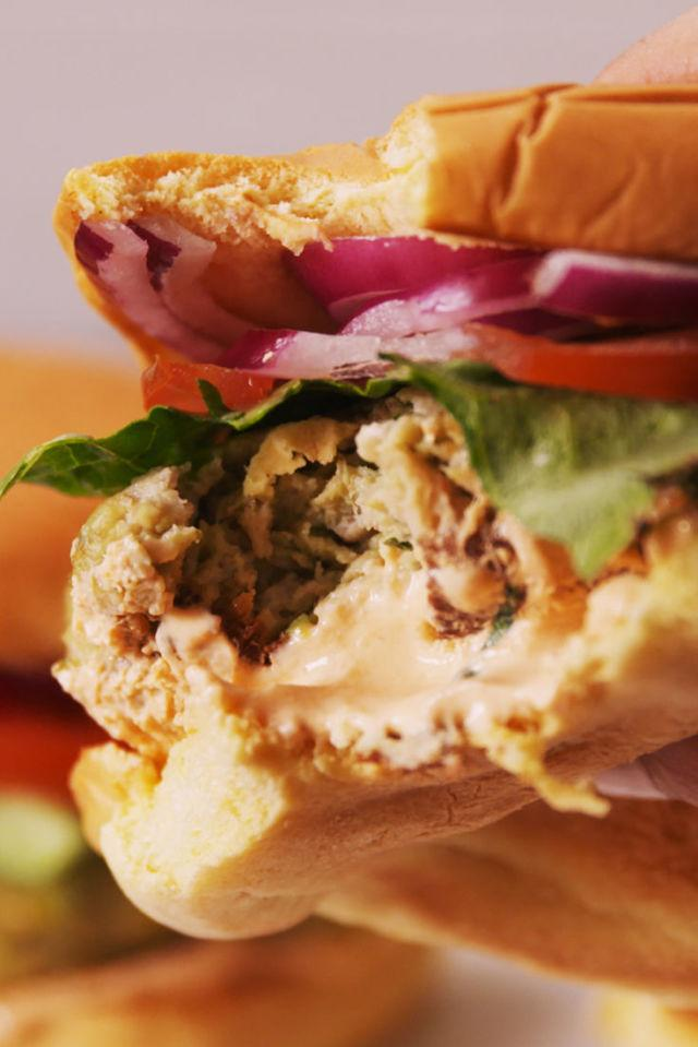 """<p>These are like soooo good, brah.</p><p>Get the recipe from <a rel=""""nofollow"""" href=""""http://www.delish.com/cooking/recipe-ideas/recipes/a54622/chicken-avocado-burgers-recipe/"""">Delish</a>.</p>"""