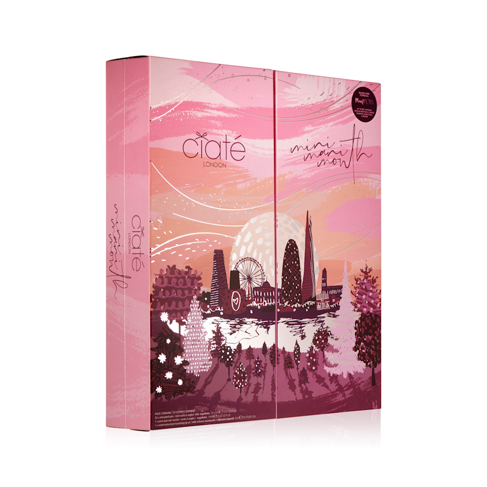 """<p><strong>Ciaté London</strong></p><p>ciatelondon.com</p><p><strong>$65.00</strong></p><p><a href=""""https://us.ciatelondon.com/products/mini-mani-month-2020"""" rel=""""nofollow noopener"""" target=""""_blank"""" data-ylk=""""slk:Shop Now"""" class=""""link rapid-noclick-resp"""">Shop Now</a></p><p>Stacked with a whopping 22 mini nail polishes, one full-size color, and a lip oil, Ciaté London's Mini Mani Month calendar won't disappoint the lacquerista in your life. Simply put, it's basically a full nail color collection in a box. </p>"""