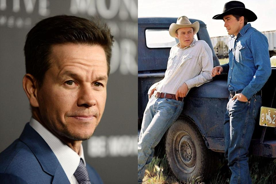 """<p>Wahlberg <a href=""""http://uproxx.com/movies/mark-wahlberg-brokeback-mount-and-missed-roles/"""" rel=""""nofollow noopener"""" target=""""_blank"""" data-ylk=""""slk:reportedly told Premiere magazine"""" class=""""link rapid-noclick-resp"""">reportedly told <em>Premiere </em>magazine</a> that he read the script for the gay romance <em>Brokeback Mountain </em>and was """"a little creeped out."""" """"It was very graphic, descriptive,"""" he said. """"I told [director] Ang Lee, 'I like you, you're a talented guy, if you want to talk about it more...' Thankfully he didn't."""" The resulting film starred Jake Gyllenhaal and Heath Ledger, both of whom received Oscar nominations.</p>"""
