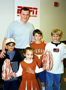 Garrett Gilbert grew up idolizing Texas QB Major Applewhite and had the chance to pose with him for a photo