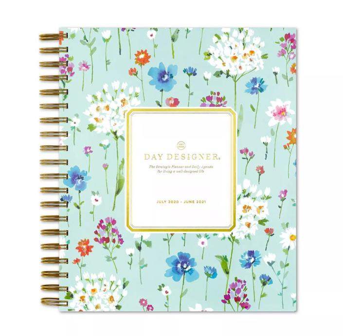 """<strong>Ana Jara, insurance claims consultant, Texas:</strong>&nbsp;Jara has worked from home for three years and recommends keeping a regular schedule that includes waking up on time, taking a lunch break, and avoiding house chores while working. <br><br>We found this daily planner with hourly time slots so you can make the most of your day. Find it for $20 at <a href=""""https://fave.co/2US54Jj"""" rel=""""nofollow noopener"""" target=""""_blank"""" data-ylk=""""slk:Target"""" class=""""link rapid-noclick-resp"""">Target</a>."""