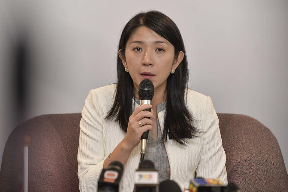 Yeo Bee Yin speaks during a press conference in Putrajaya May 16, 2019. — Picture by Miera Zulyana