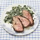 "<p>Conjure up steakhouse vibes right in your own home with this peppercorn-crusted steak recipe. </p><p><strong><a href=""https://www.thepioneerwoman.com/food-cooking/recipes/a35925378/peppercorn-crusted-steak-with-creamed-spinach-recipe/"" rel=""nofollow noopener"" target=""_blank"" data-ylk=""slk:Get the recipe"" class=""link rapid-noclick-resp"">Get the recipe</a>.</strong></p><p><strong><a class=""link rapid-noclick-resp"" href=""https://go.redirectingat.com?id=74968X1596630&url=https%3A%2F%2Fwww.walmart.com%2Fbrowse%2Fhome%2Fthe-pioneer-woman-dishes%2F4044_623679_639999_7373615&sref=https%3A%2F%2Fwww.thepioneerwoman.com%2Ffood-cooking%2Fmeals-menus%2Fg35589850%2Fmothers-day-dinner-ideas%2F"" rel=""nofollow noopener"" target=""_blank"" data-ylk=""slk:SHOP DINNERWARE"">SHOP DINNERWARE</a><br></strong></p>"