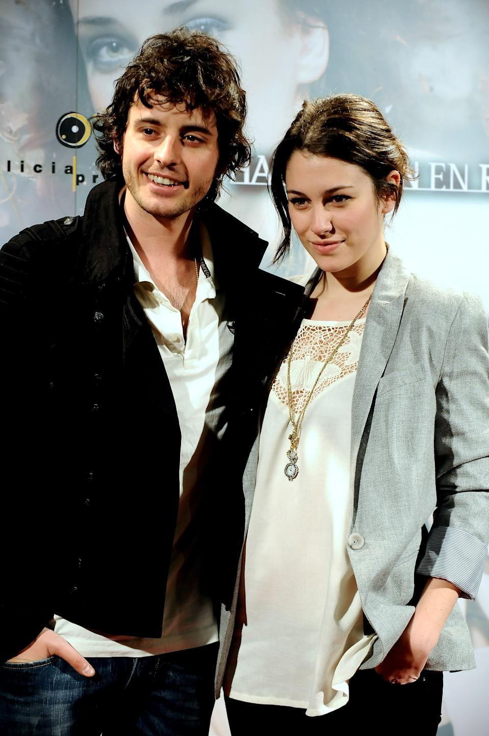 """MADRID, SPAIN - MAY 06:  Actor Javier Pereira (L) and actress Blanca Suarez attend """"Habitacion en Roma"""" premiere at the Capitol cinema on May 6, 2010 in Madrid, Spain.  (Photo by Carlos Alvarez/Getty Images)"""