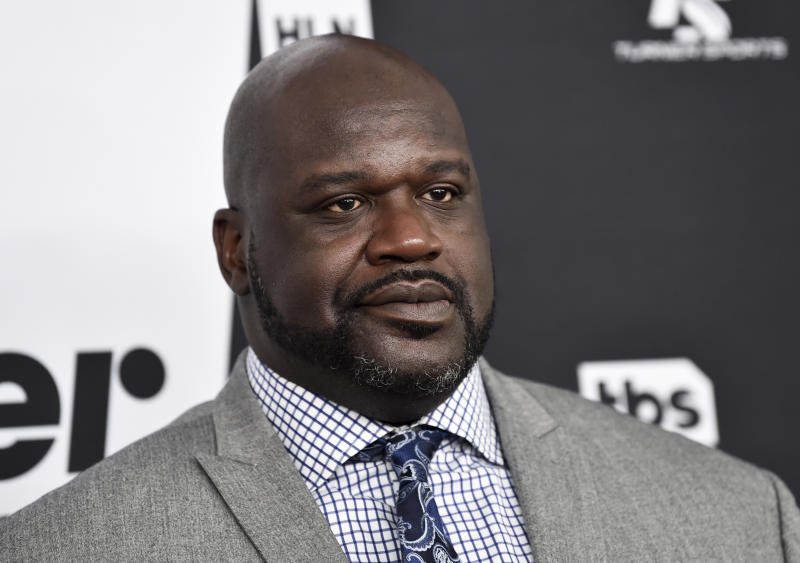 Turner Sports host Shaquille O'Neal attends the Turner Networks 2018 Upfront at One Penn Plaza on Wednesday, May 16, 2018, in New York. (Photo by Evan Agostini/Invision/AP)