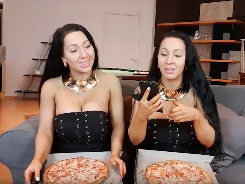 The twins ate five times the recommended daily amount of calories. Photo: YouTube
