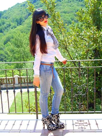 """<p>Keep the daring Dalmatian printed shoe the focus of your look by teaming it with basics.<br /><br /><em>Source: <a href=""""http://www.stylepile.com/styles/14023-dalmatian"""" target=""""_blank"""">StylePile</a></em></p>"""