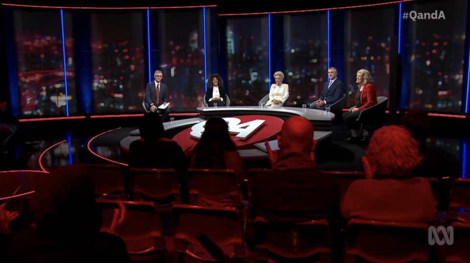 Guests on Thursday's episode of Q&A on the ABC.