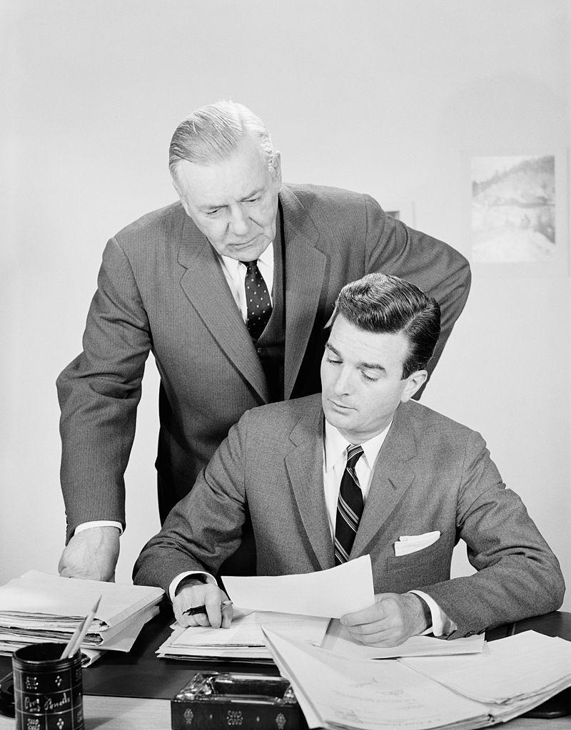 """<p>In the era that gave rise to the """"organization man"""" and """"The Man in the Gray Flannel Suit"""" comes this corporate-ish term to describe a manager who just can't let things go.</p>"""