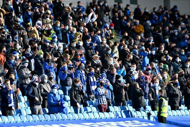 Supporters were last allowed into sports grounds in December (Mike Hewitt/PA)