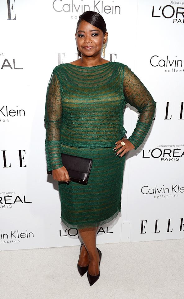 BEVERLY HILLS, CA - OCTOBER 15:  Honoree Octavia Spencer arrives at ELLE's 19th Annual Women In Hollywood Celebration at the Four Seasons Hotel on October 15, 2012 in Beverly Hills, California.  (Photo by Michael Kovac/WireImage)
