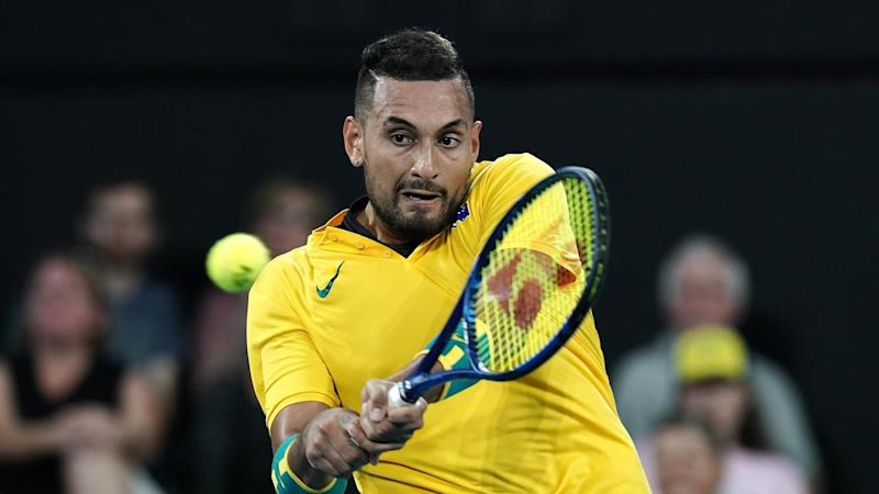 Nick Kyrgios was all class in beating Stefanos Tsitsipas at the ATP Cup in Brisbane