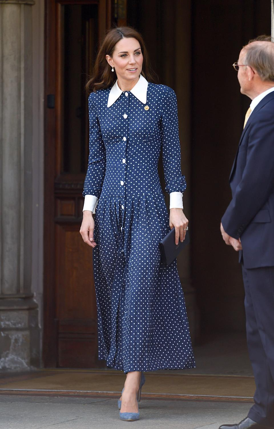 Kate visits a D-Day exhibition at Bletchley Park in Bletchley, England, on May 14.