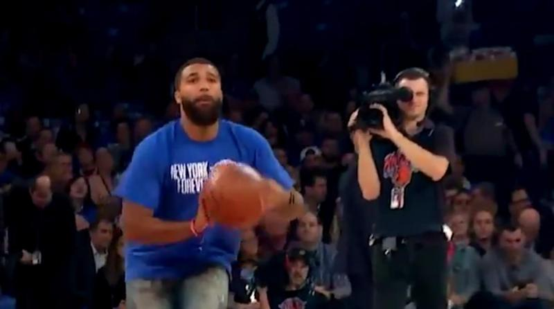 Watch: Knicks Fan Sinks Half-Court Shot for $10K at Season Opener