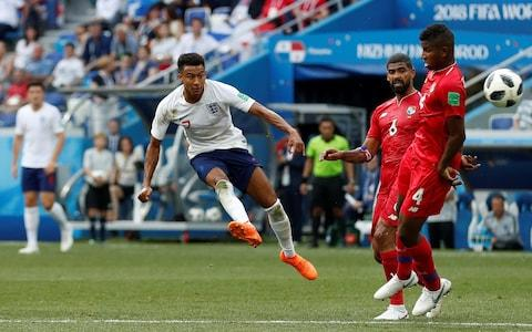 Jesse Lingard puts England 3-0 up - Credit: REUTERS/Matthew Childs