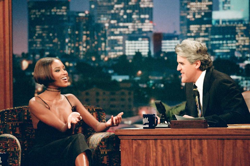 Naomi Campbell on The Tonight Show With Jay Leno in 1996.