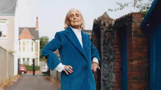 Dilys is an 86-year old skydiver from wales. [Photo: Helmut Lang]