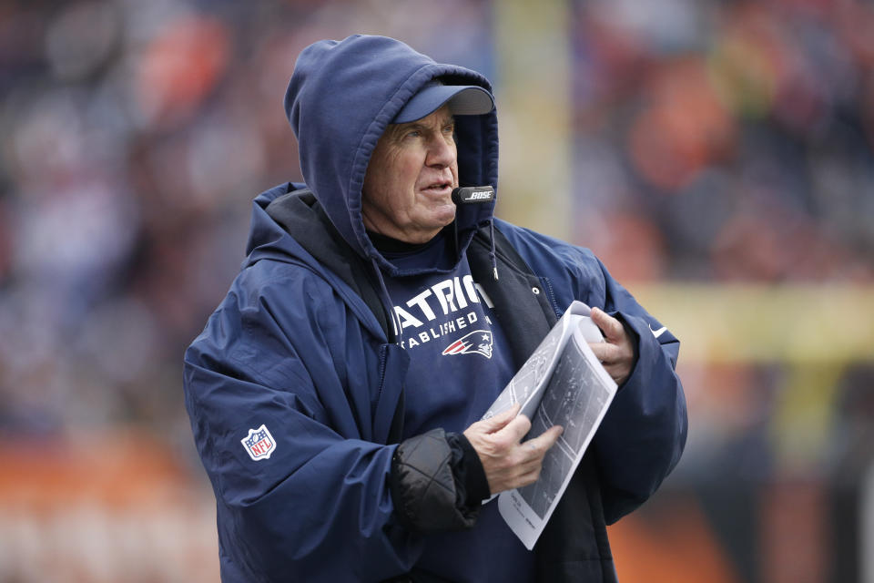 Patriots head coach Bill Belichick was not linked to the film crew caught taping the Bengals' sideline on Dec. 8, according to the NFL. (AP/Gary Landers)