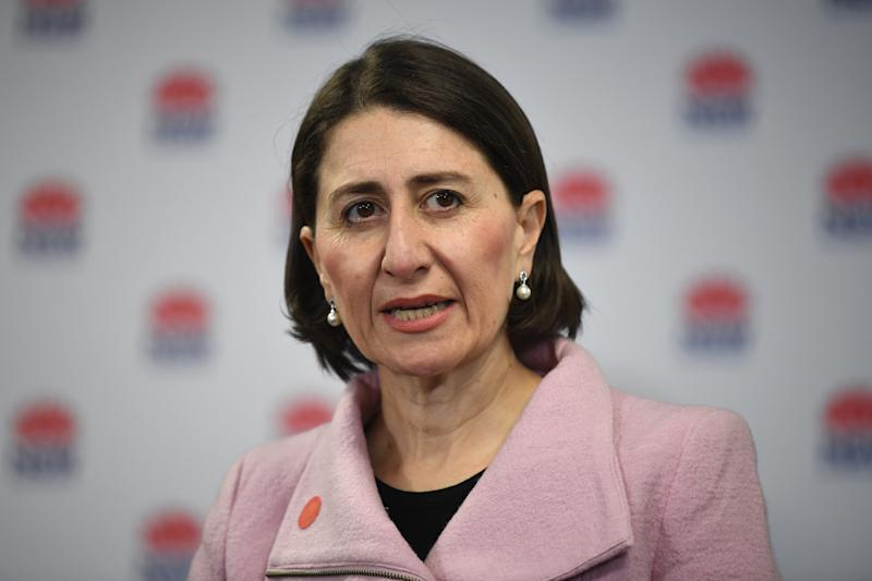 NSW Premier Gladys Berejiklian has urged residents in NSW. to reconsider travelling to Victoria. Source: AAP