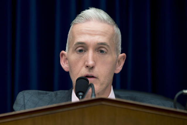 Chairman Trey Gowdy, R-S.C., speaks at a House Oversight and Government Reform Committee hearing on the 2020 Census on Capitol Hill in Washington on Tuesday. (Photo: Andrew Harnik/AP)
