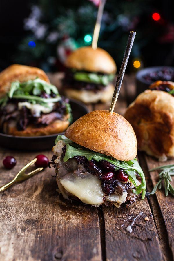 """<p>These sliders get juicy flavor from a balsamic cranberry sauce.</p><p>Get the recipe from <a href=""""http://www.halfbakedharvest.com/gingery-steak-brie-sliders-balsamic-cranberry-sauce/"""" rel=""""nofollow noopener"""" target=""""_blank"""" data-ylk=""""slk:Half Baked Harvest"""" class=""""link rapid-noclick-resp"""">Half Baked Harvest</a>.</p>"""