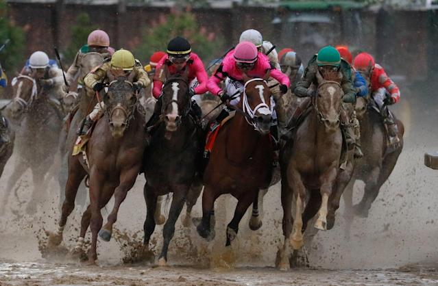 The Final turn of Saturday's Kentucky Derby remains steeped in controversy. (AP)