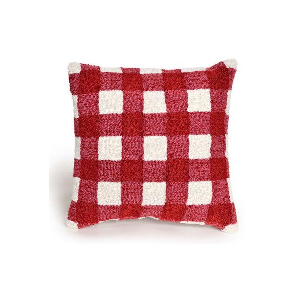 "<p>This playful 18""x18"" gingham throw pillow offers a rich hit of color and a fun raised design; it's also safe to use both indoors and outdoors. </p> <p><strong>Buy It: $48.99; <a rel=""nofollow"" href=""https://www.wayfair.com/August-Grove%C2%AE-Ismay-Gingham-Throw-Pillow-ATGR8802.html"">wayfair.com</a></strong></p>"