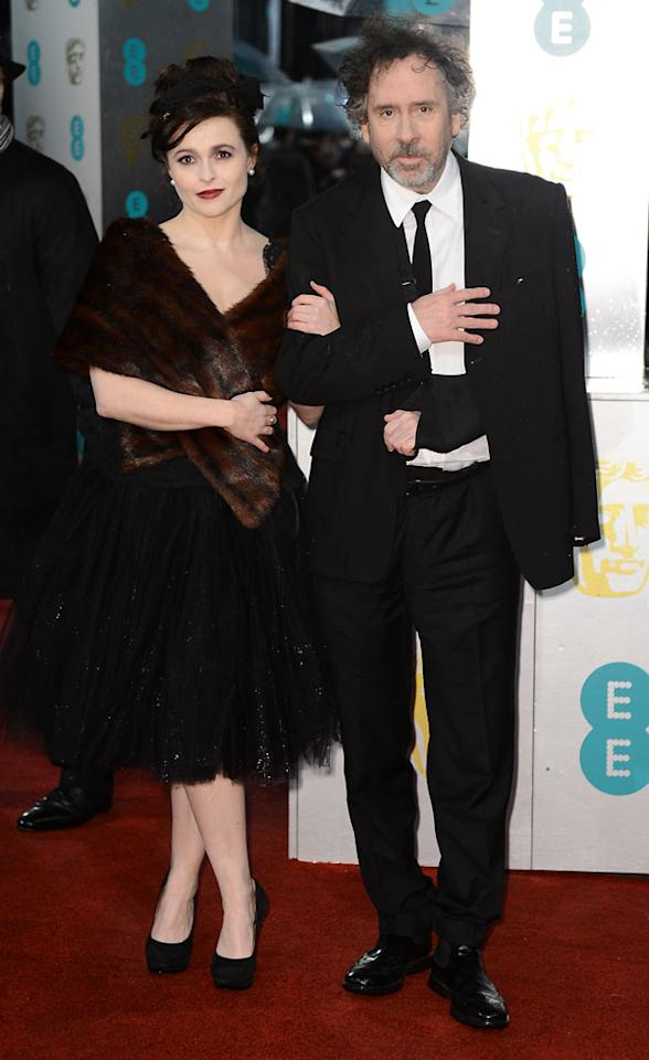 Helena Bonham Carter and Tim Burton attend the EE British Academy Film Awards at The Royal Opera House on February 10, 2013 in London, England.  (Photo by Ian Gavan/Getty Images)