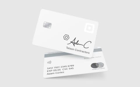 A mockup of the Square Card.