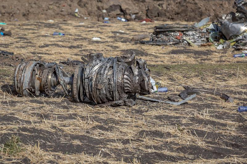 Airplane parts lie on the ground at the scene of an Ethiopian Airlines flight crash near Bishoftu, or Debre Zeit, south of Addis Ababa, Ethiopia, March 11, 2019. (Photo: Mulugeta Ayene/AP)