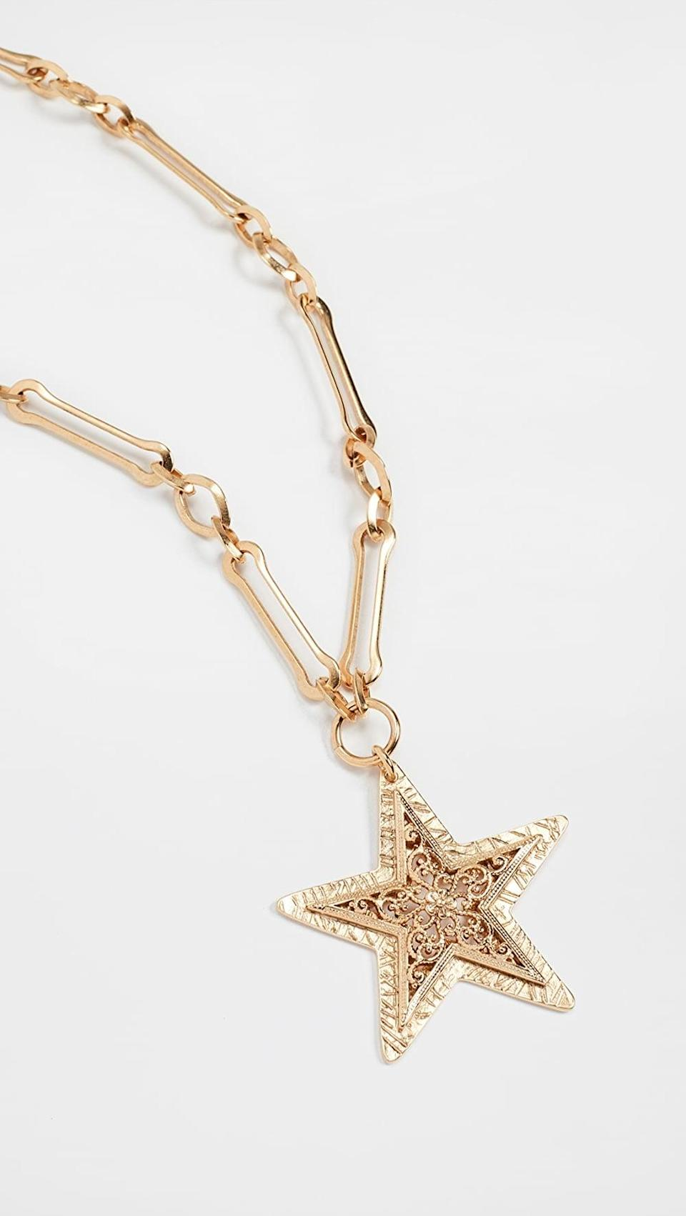 <p><span>Brinker &amp; Eliza Written in the Stars Necklace</span> ($77, originally $128)</p>
