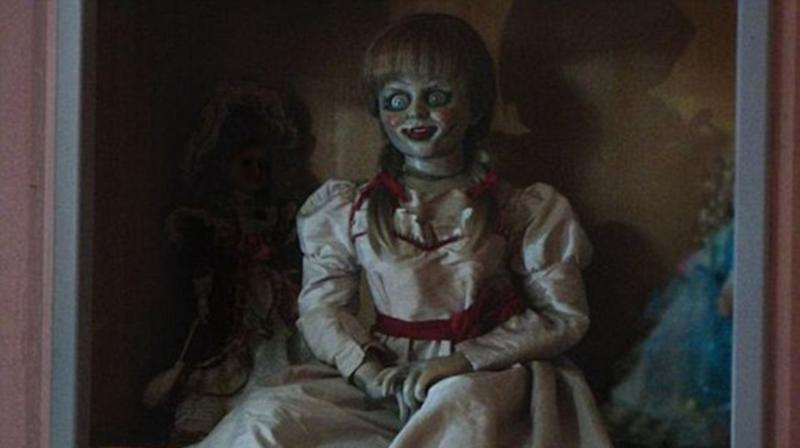 Annabelle: Creation tells the tale of how a porcelain-faced doll becomes possessed by a demon. Source: Warner Bros.