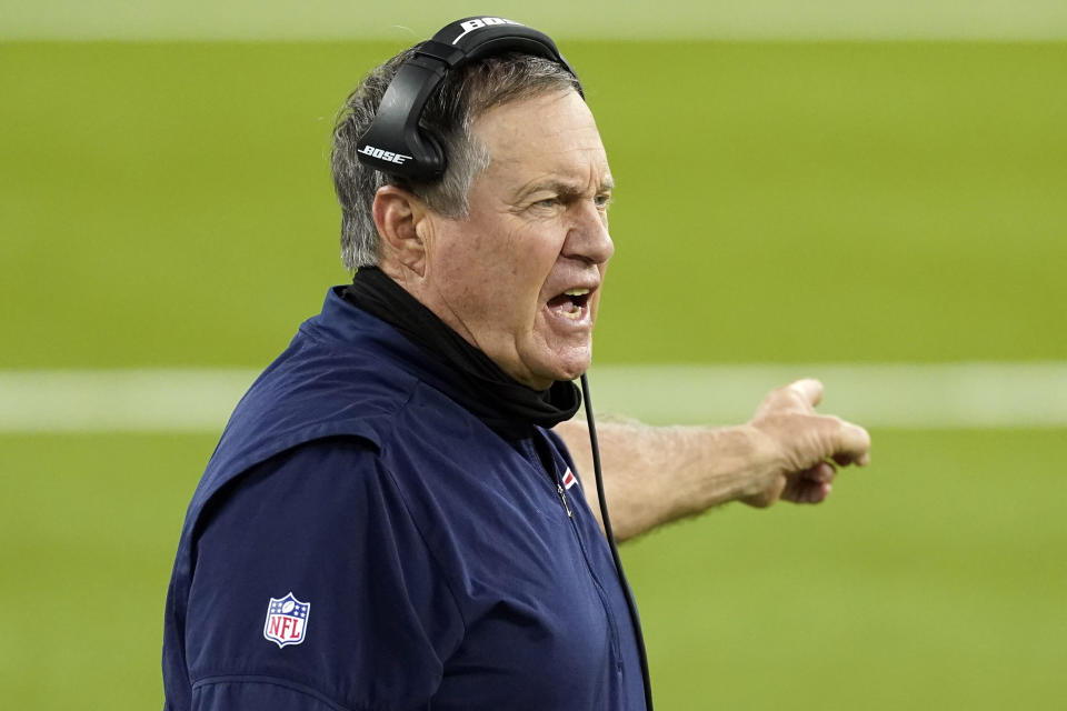 Bill Belichick and the Patriots have been big spenders in free agency. (AP Photo/Ashley Landis, File)